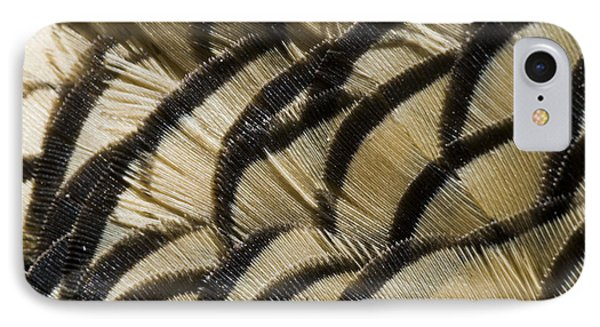 California Quail Breast Feathers IPhone Case by William H. Mullins