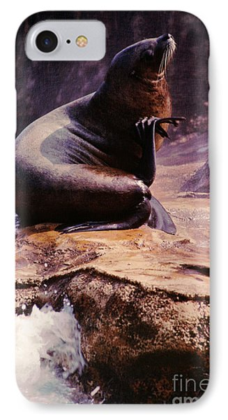 California Sea Lion Raising A Flipper Phone Case by Anna Lisa Yoder