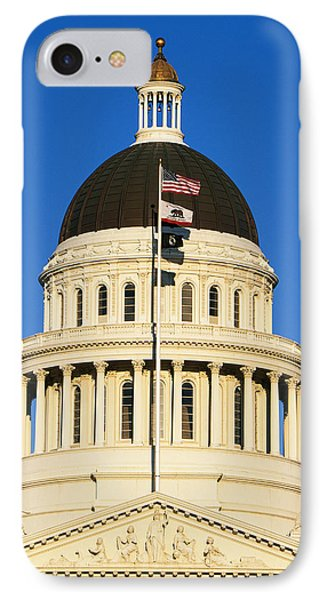 California State Capitol Building IPhone Case by Panoramic Images