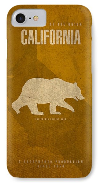 California State Facts Minimalist Movie Poster Art  IPhone Case by Design Turnpike