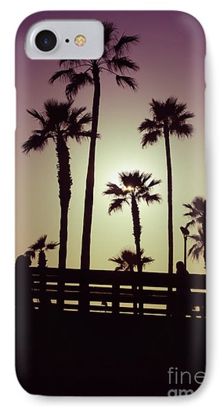 California Sunset Picture With Palm Trees Phone Case by Paul Velgos