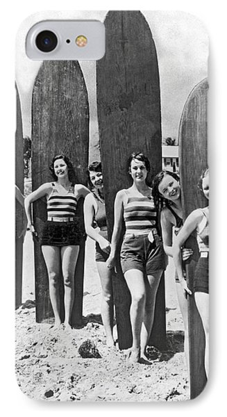California Surfer Girls IPhone Case by Underwood Archives