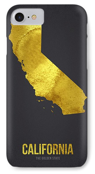California The Golden State IPhone Case by Aged Pixel