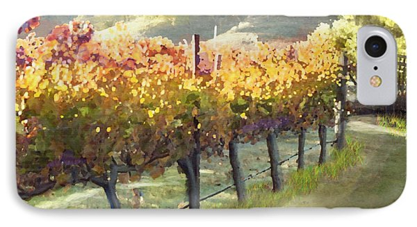 California Vineyard Series Morning In The Vineyard Phone Case by Artist and Photographer Laura Wrede
