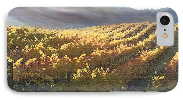 California Vineyard Series Vineyard In The Mist Phone Case by Artist and Photographer Laura Wrede