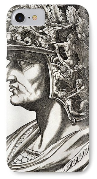 Caligula Caesar , 1596 IPhone Case by Italian School