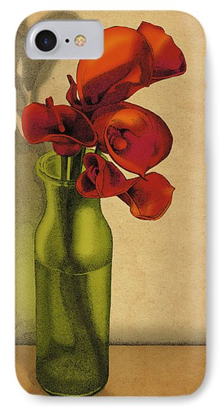 Calla Lilies In Bloom IPhone Case by Meg Shearer