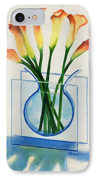 IPhone Case featuring the painting Calla Lilies by Kathy Braud