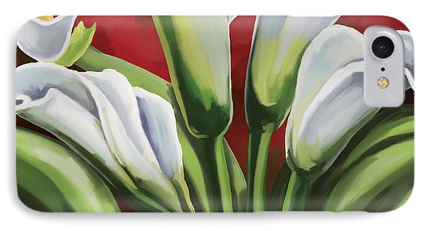 IPhone Case featuring the painting Calla Lilies  by Tim Gilliland