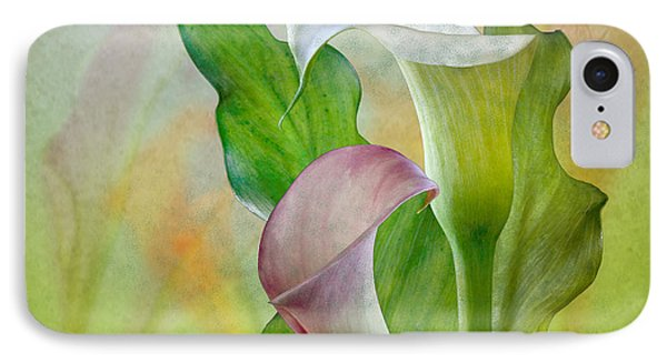 IPhone Case featuring the photograph Calla Lily Garden by Shirley Mangini