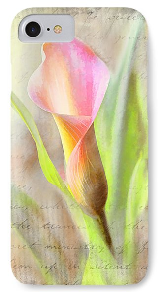 Calla Lily In Pink IPhone Case by Bonnie Willis