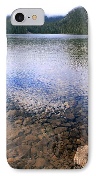 IPhone Case featuring the photograph Callaghan Lake Stones by Amanda Holmes Tzafrir
