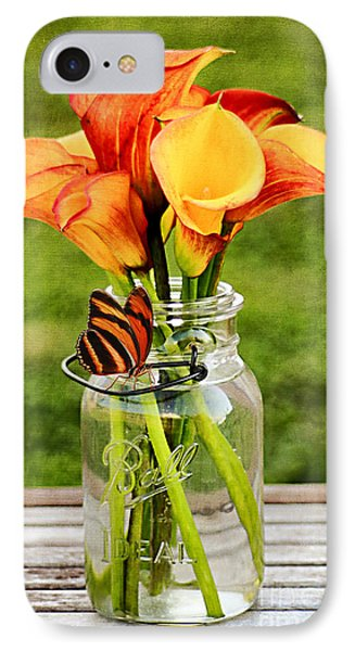 Calla's And The Butterfly Phone Case by Darren Fisher