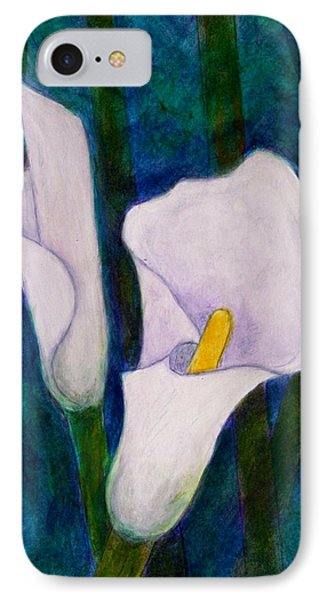 Callas Lilies II IPhone Case by Madalena Lobao-Tello
