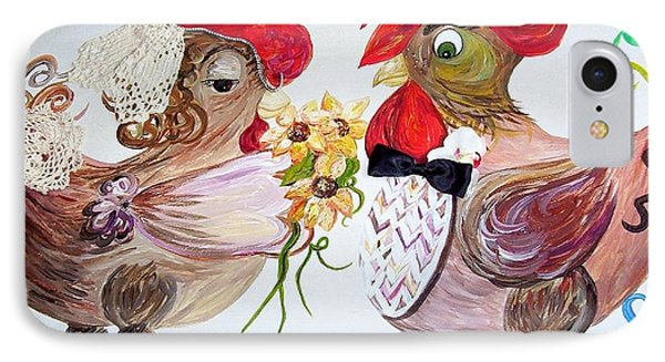 Calling All Chicken Lovers Say I Do Phone Case by Eloise Schneider