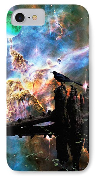 Calling The Night - Crow Art By Sharon Cummings IPhone Case