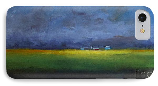 IPhone Case featuring the painting Calm Before The Storm by Fred Wilson