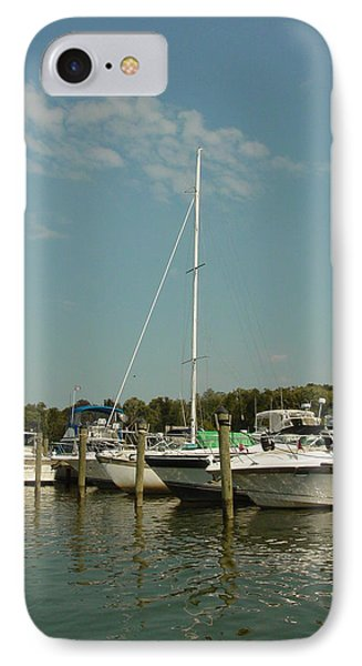 IPhone Case featuring the photograph Calm Day At The Marina by Dorothy Maier