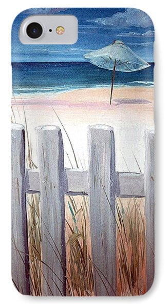 IPhone Case featuring the painting Calm Day At The Seashore by Bernadette Krupa