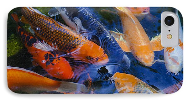 Calm Koi Fish Phone Case by Jerry Cowart