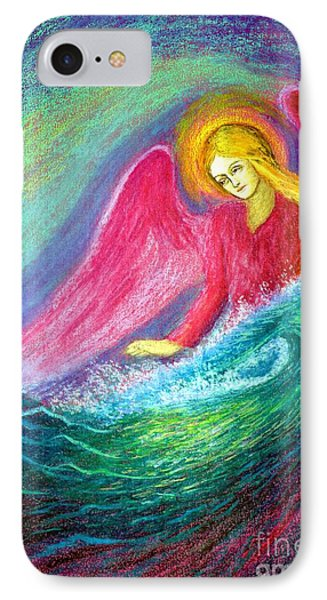 Calming Angel IPhone Case by Jane Small