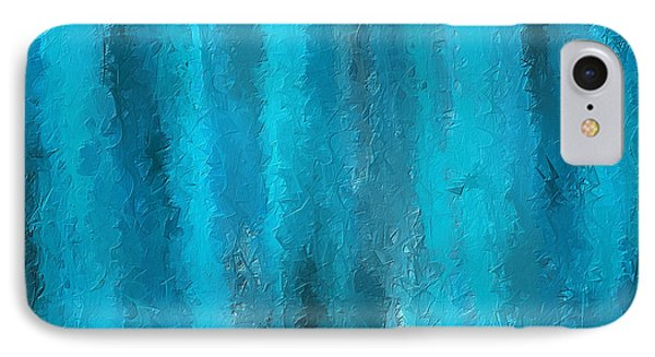 Calming Visuals-turquoise Art IPhone Case by Lourry Legarde