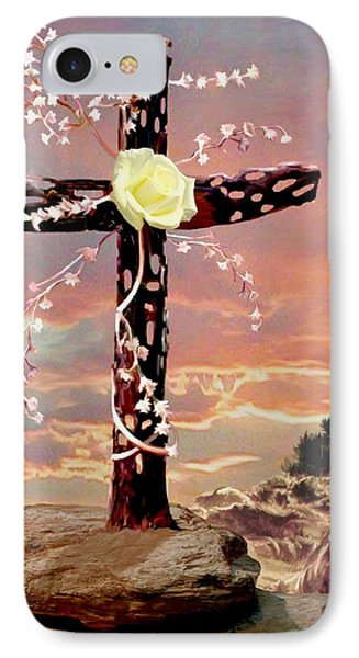 Calvary Cross IPhone Case by Ron Chambers