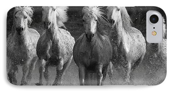 Camargue Horses Running IPhone Case by Carol Walker