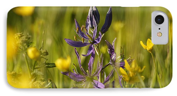 IPhone Case featuring the photograph Camas And Wild Flowers by Inge Riis McDonald