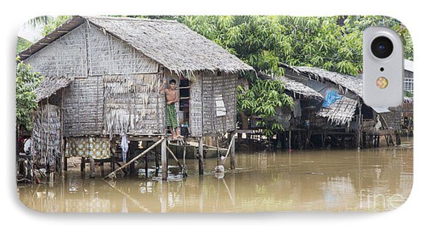 Cambodia Village I IPhone Case by Chuck Kuhn