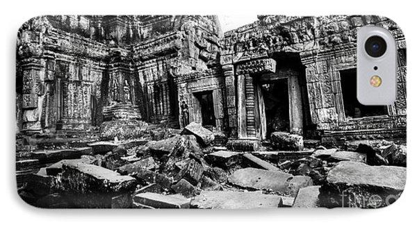 Cambodian Ruin At Ta Prohm IPhone Case