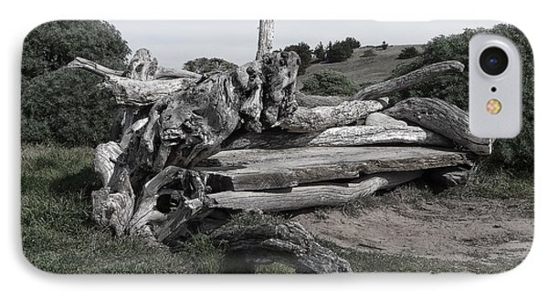 Cambria Driftwood Bench 3 IPhone Case