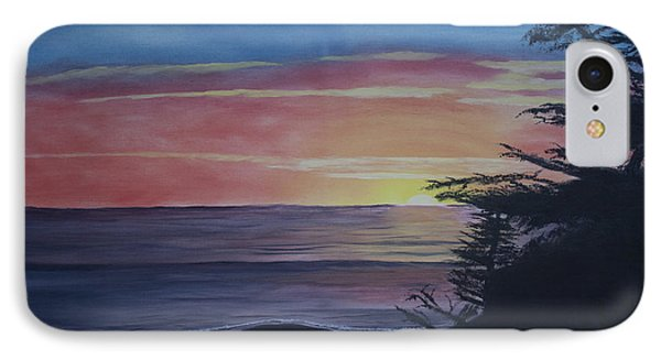 IPhone Case featuring the painting Cambria Setting Sun by Ian Donley