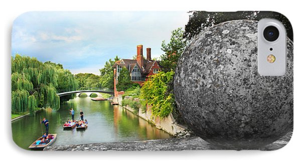 IPhone Case featuring the photograph Punting In Cambridge by Eden Baed