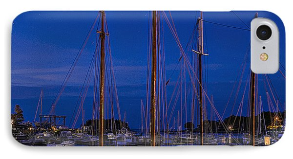 Camden Harbor Maine At 4am IPhone Case by Marty Saccone