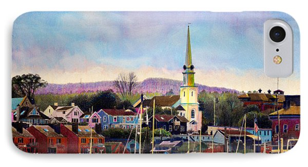 Camden Maine Harbor IPhone Case by Cindy McIntyre
