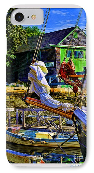 Camden Maine Seaport IPhone Case by Linda Olsen