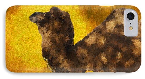 Camel In Desert Sun IPhone Case by Jack Zulli