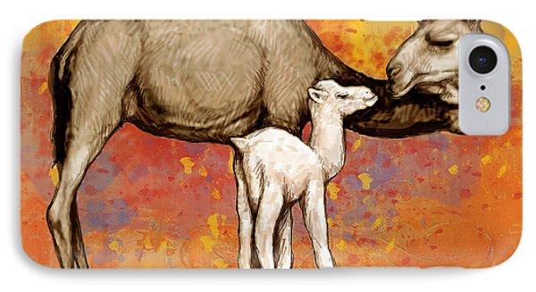 Camel Stylised Pop Art Drawing Potrait Poser IPhone Case