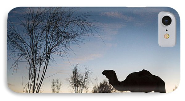 Desert Sunset iPhone 7 Case - Camel Sunset by Delphimages Photo Creations