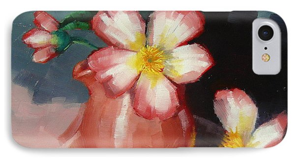 IPhone Case featuring the painting Camellias And Chinese Tea Jug by Margaret Stockdale