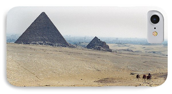 IPhone Case featuring the photograph Camels At Giza by Cassandra Buckley