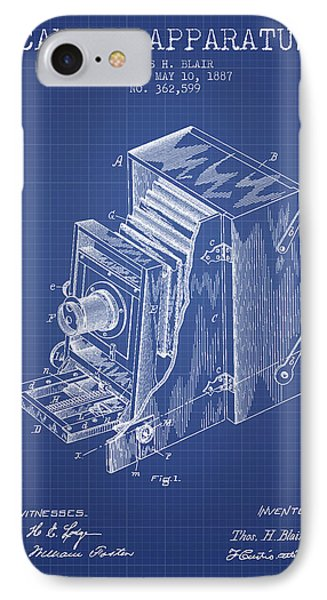 Camera Apparatus Patent From 1887 - Blueprint IPhone Case