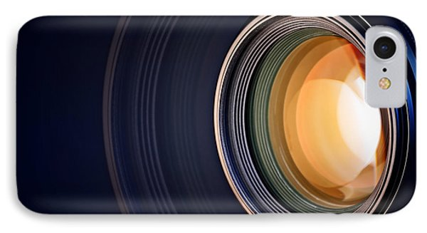 Camera Lens Background IPhone Case by Johan Swanepoel