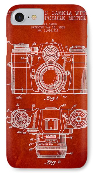 Camera Patent Drawing From 1962 Phone Case by Aged Pixel