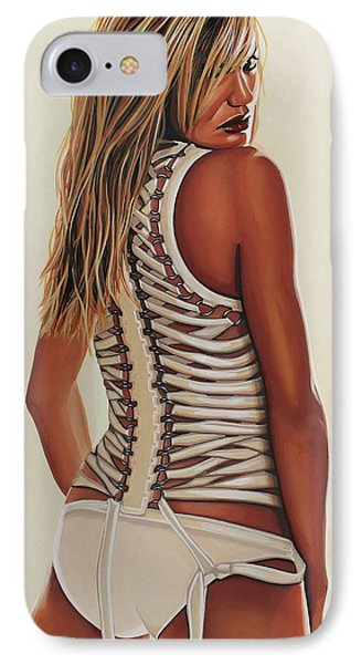 Cameron Diaz Painting IPhone Case by Paul Meijering