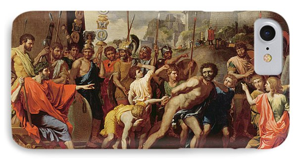 Punishment iPhone 7 Case - Camillus And The Schoolmaster Of Falerii, C. 1635-40 Oil On Canvas by Nicolas Poussin