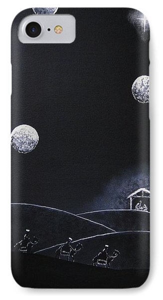 IPhone Case featuring the painting Camino A Belen by Edwin Alverio