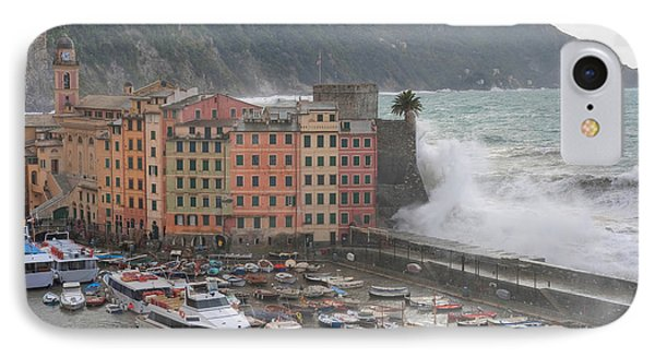 IPhone Case featuring the photograph Camogli Under A Storm by Antonio Scarpi