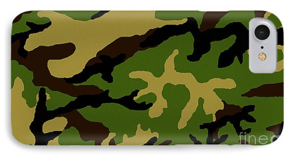 IPhone Case featuring the painting Camouflage Military Tribute by Roz Abellera Art